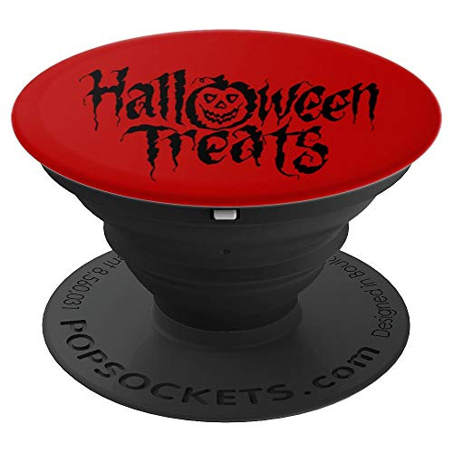 Crazy Pumpkin Halloween Treats gift present - PopSockets Grip and Stand for Phones and Tablets for $<!--$14.99-->