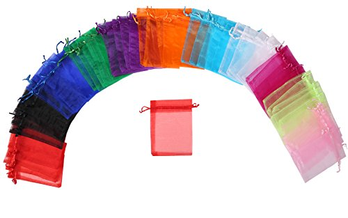 ZUUC Colorful Organza Drawstring Pouch Bag, 4