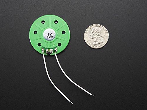 Speakers & Transducers Thin Plastic Speaker w/Wires - 8 ohm 0.25W (1 piece) (Transducer Plastic)