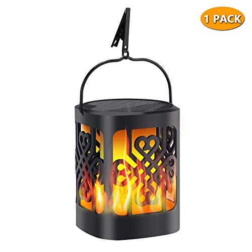 Upgraded Solar Lantern Lights, YoungPower Outdoor Solar Lanterns Dancing Flame Outdoor Hanging Lanterns Light Solar…