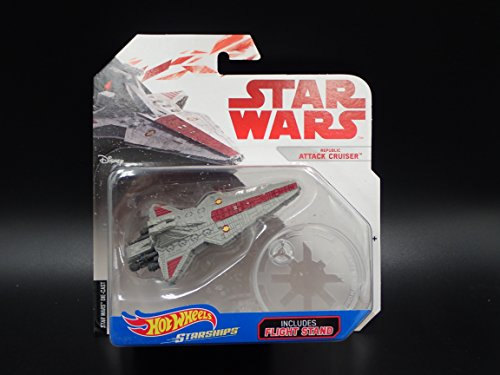 REPUBLIC ATTACK CRUISER STAR WARS HOT WHEELS STARSHIPS w FLIGHT (Republic Star Cruiser)