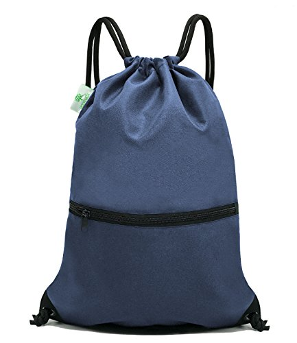 Gym Pack - HOLYLUCK Men & Women Sport Gym Sack Drawstring Backpack Bag - Navy Blue