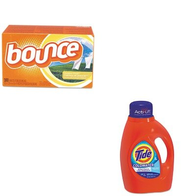 Procter And Gamble Bounce Fabric (KITPAG13755PAG80168CT - Value Kit - Procter amp; Gamble Professional Coldwater Liquid Laundry Detergent (PAG13755) and Bounce Fabric Softener Sheets (PAG80168CT))