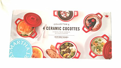 4 Mini Ceramic baking pots with lids by Martha Stewart