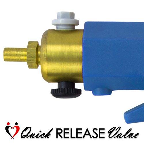LeLuv Maxi Blue Plus Vacuum Gauge Penis Pump 9 inch x 2.25 inch Cylinder