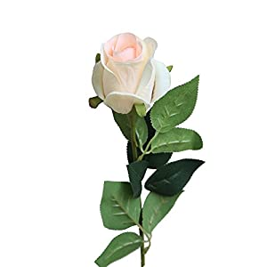 SANGQU Fake Flowers Artificial Long Rose Flowers Real Looking Silk Material Wedding Garden Home Bouquet Party Decoration Room Office Decor,Pack of 1 (Vase not Included) 85