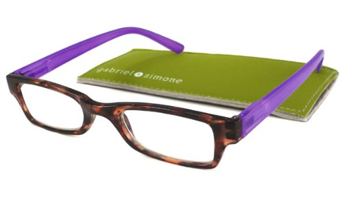 Gabriel + Simone Reading Glasses - Saint-Germain Tortoise + Purple / Tortoise + Purple - Purple Tortoise