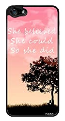 Cute Inspirational Quote Snap-On Cover Hard Plastic Case for iPhone 5/5S (Black)