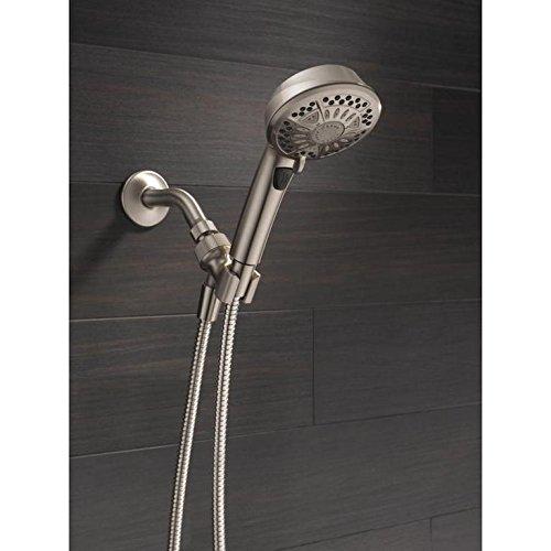 - Delta 75601SN 7-Spray Hand Shower In SpotShield Brushed Nickel