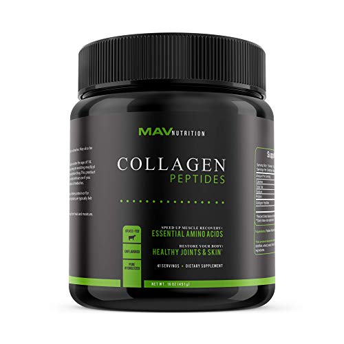 - Collagen Powder with Collagen Peptides; Pasture-Raised & Grass-Fed, Paleo Formula for Healthy Joints & Skin; Pure Hydrolyzed + Unflavored; 100% All Natural, Non-GMO & Gluten-Free