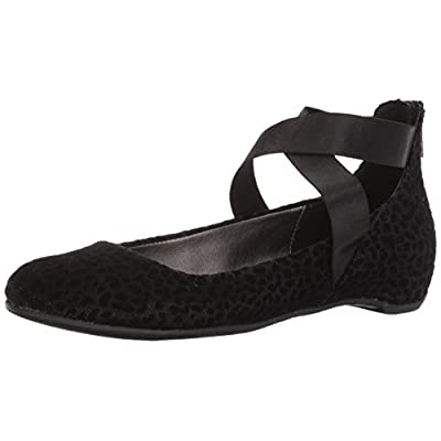 Kenneth Cole REACTION Women's Pro-Time Elastic Ankle Strap, Back Zip-Velvet Ballet Flat
