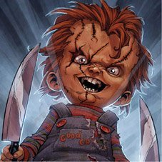 Chucky Killer Doll Framed Canvas Art Print 25cm X 25cm 10inch X