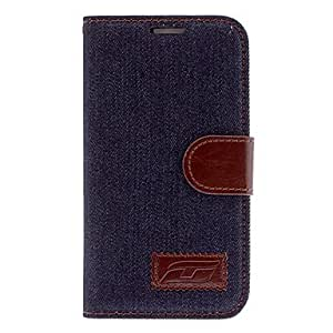 TOPAA ships in 48 hours Denim Design Full Body Case for Samsung Galaxy S4 Active I9295 (Assorted Colors) , Light Blue