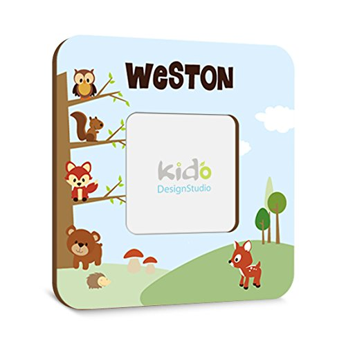 Personalized Woodland Forest Friends Picture Photo Frame, Animals Children Bedroom and Nursery Picture Frame, Personalized Wall Art