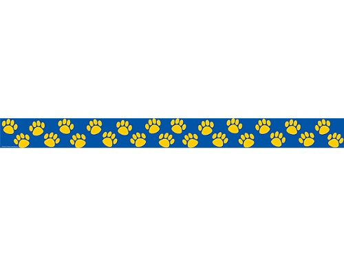 Teacher Created Resources Blue with Gold Paw Prints Border Trim (4643)]()