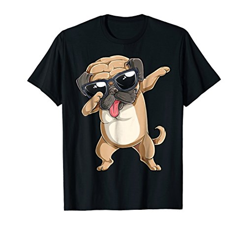 (Dabbing Pug Shirt Boys Girls Pugs Dab Dance Dog Puppy)