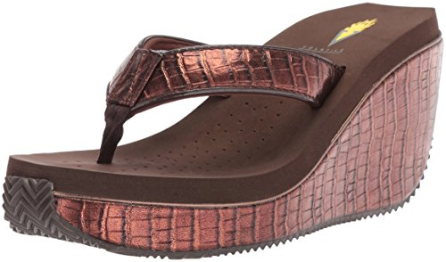 Volatile Brown Sandals (Volatile Women's Goldmine Flip-Flop, Bronze, 8 B US)