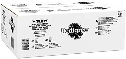 Pedigree Dog Food Pouches Mixed Selection in Gravy, 100 g (Pack of 84) – Dogs Corner