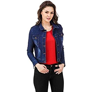 41jJe6knsXL. SS320 FUNDAY FASHION Full Sleeve Solid Women's Denim Jacket