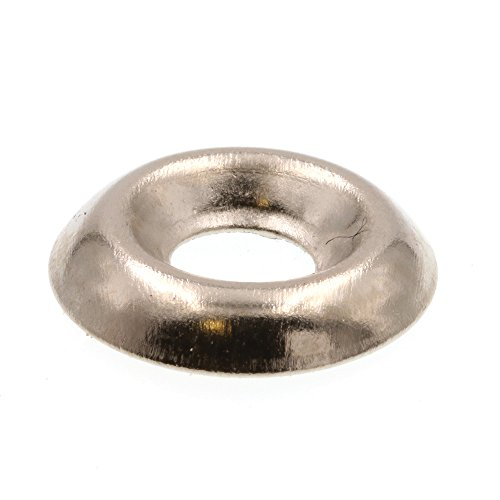 Prime-Line 9083711 Finishing Washers, Countersunk, #8, Nickel Plated Steel, 50-Pack -