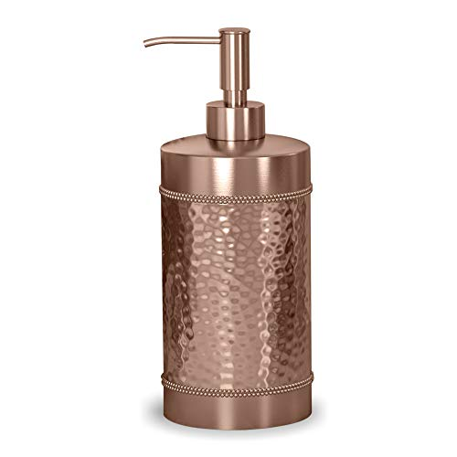 nu steel HSC6H Hudson Collection Liquid Soap & Lotion Dispenser Pump for Bathroom or Kitchen Countertops, Hammered Copper Finish (Hudson Countertop)