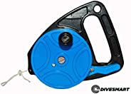 DiveSmart Scuba Diving Reel with Thumb Stopper and High Visibility White Line (150ft', 270ft') - for C