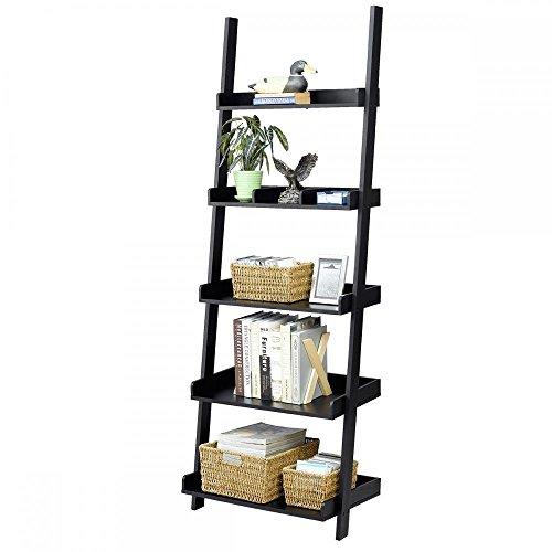 - Cypress Shop Bookcase Ladder Shelf Rack 5 Tiers Wood Bookshelf Widen Storage Shelving Units Learning Wall Organizer Garage Kitchen Open Display Shelf Rack Decor Showing Home Furniture