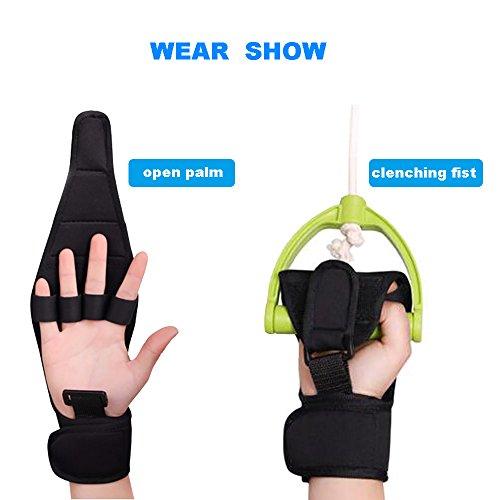 Enshey Rehabilitation Training Gloves Finger Splint Brace Ability Finger Gloves Brace Elderly Fist Stroke Hemiplegia Finger Anti-Spasticity Rehabilitation Auxiliary Training Gloves by Enshey (Image #4)'