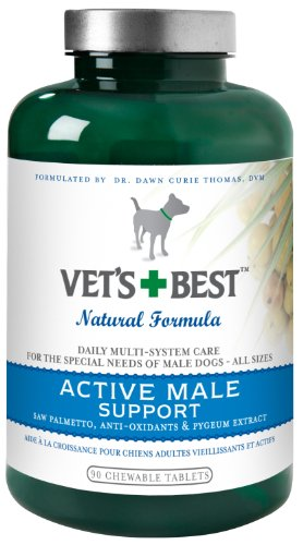 Vet's Best Active Male Dog Support Supplement, 90 Tablets, My Pet Supplies