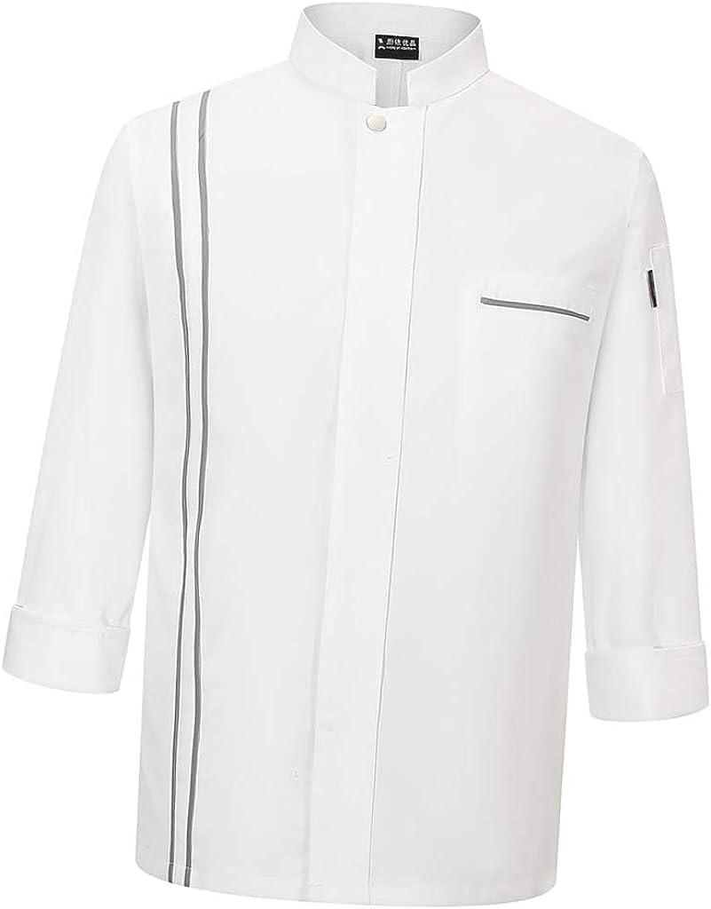 Sharplace Chaqueta de Chef de Manga Larga Camisa de Cocinero Uniforme de Camarero Blanco Unisex: Amazon.es: Ropa y accesorios