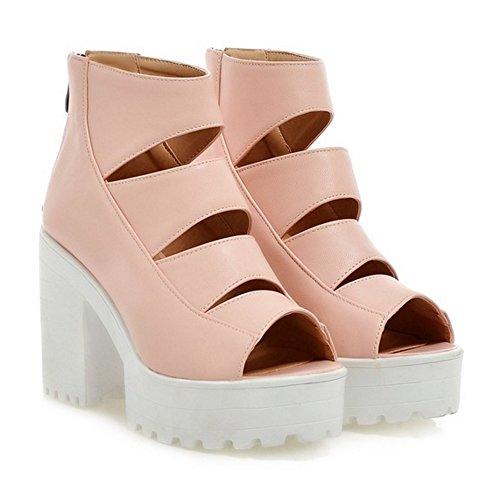 Sandales Talons RAZAMAZA pink Chunky Femmes HqBqwAx0g