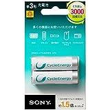 ソニー SONY 充電式ニッケル水素電池 サイクルエナジーシルバー 単3形 2本パック NH-AA-2BRA