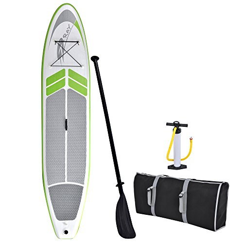 Blue Wave Sports Manta Ray Inflatable Stand Up Paddleboard with Hand Pump, 12-Feet by Blue Wave Sports