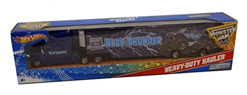 (Hot Wheels Monster Jam Heavy Duty Hauler Blue)