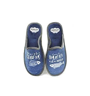 Zapatillas Biorelax Hombre Sabes Que te Quiero.: Amazon.es
