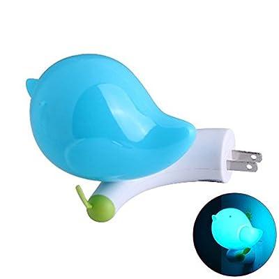 niceEshop(TM) Kids Bird Night Light with Sensor Plug in Wall Night Lamp for Children Bedroom