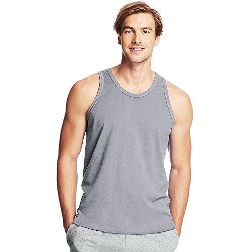 Hombre Tirantes Mangas Steel Light Camiseta Gris De Sin Para Hanes w4YPEqO