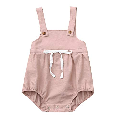 Infant Baby Girls Sleeveless Camisole - vermers Summer Off Shoulder Newborn Baby Jumpsuits with Bow - Childrens Rompers