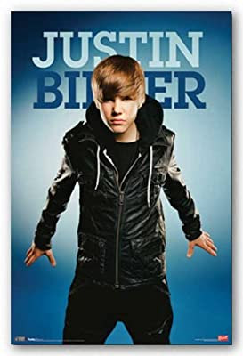 Justin Bieber Poster Fly Blue Fierce Cute Star RS5287 Music Poster Print, 22x34