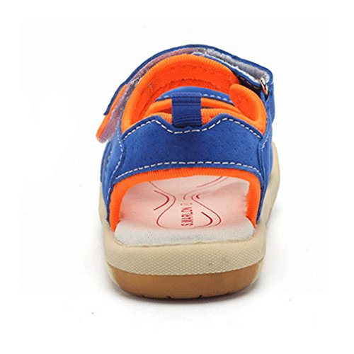 KVbaby Sandalias Punta Cerrada Para Niños Suave Zapatillas de Deporte Al Aire Libre Zapatos de Playa Azul2