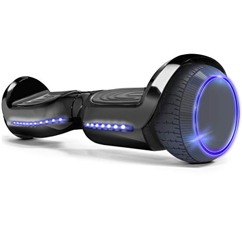 XtremepowerUS 6″ Self-Balancing Hoverboard LED Light Bluetooth Speaker (SGS Certified) for Kids & Adults