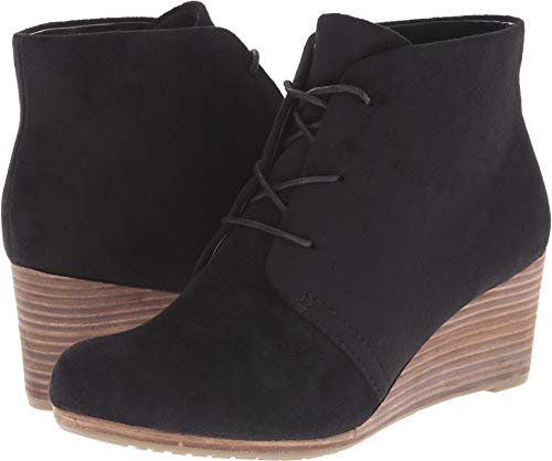 Dr. Scholl's Shoes Women's Dakota Boot, Black Microfiber Suede, 9 W US