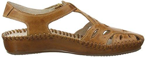 Pikolinos Puerto Vallarta-1 655-8312L - Zapatos de cuero para mujer Marrón (Brandy)