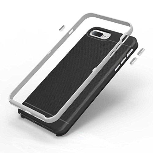 """5.5"""" iPhone 7 Plus Coque, AOFad Case Antidérapant Protection des lourds Mince Argent Plastique Hornet Accessoires Série Pour Femme Homme L188"""