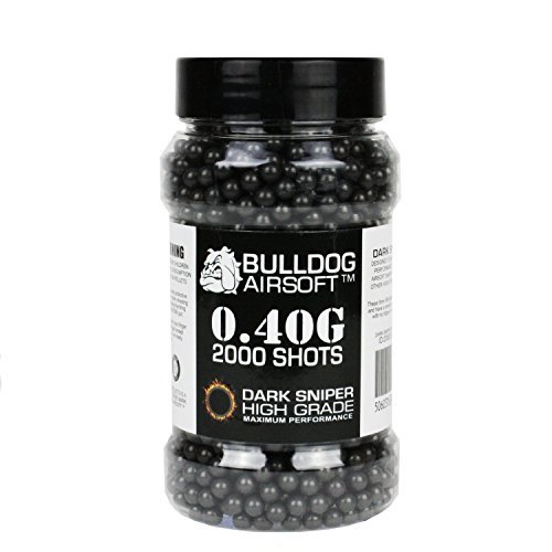 Bulldog 0.40g 2000 Dark Sniper Airsoft BB Pellets Black