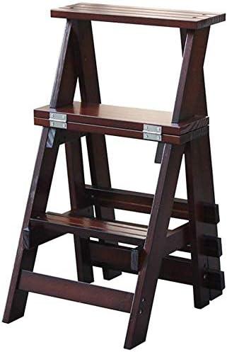 Escalera Plegable de Madera Escalera-Hogar Cubierta Subir escaleras heces, Cocina Escalera del Taburete for Adultos, portátil Soporte de Flor/Zapatero heces/Almacenamiento Lostgaming (Color : A): Amazon.es: Hogar