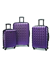 Samsonite 64621-1717 ZIPLITE 2.0 3-Piece Nested Set, Purple, Checked – Large
