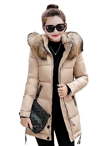 Long Les Tous Parka Femme Taille Longue Manches Manteau Doudoune Manteau Jours Mode Fit Costume Outdoor Capuchon lgant avec Warm Blouson Transition Quilting Hiver Slim Fourrure Kaki Grande Doudoune nUZqfxnaw