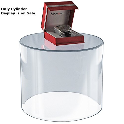 New Retail Acrylic Clear Multipurpose Cylinder, Size: 10''W x 10''H by Cylinder Display