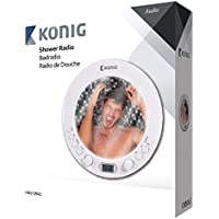 Konig AM/FM shower radio with mirror [HAV-SR42]